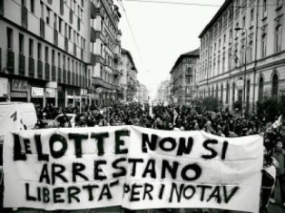 Solidarity demonstration in Milan