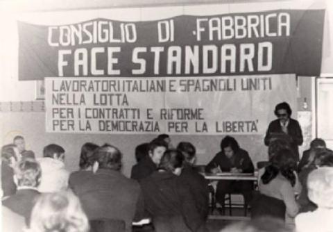 Consiglio di fabbrica in Milan