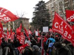 Logistics workers' demonstration in Bologna, February 1