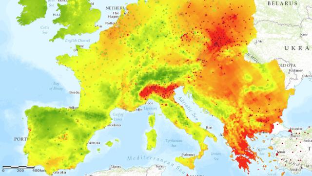 map pollution po valley coronavirus
